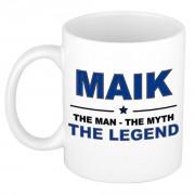 Bellatio Decorations Maik The man, The myth the legend cadeau koffie mok / thee beker 300 ml