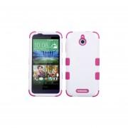 Funda Protector Triple Layer HTC One Desire 510 Blanco / Rosa