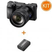 Kit Sony Alpha A6300 Aparat Foto Mirrorless cu Obiectiv Carl Zeiss Vario-Tessar T* E 16-70mm F/4 + Sony NP-FW50 Acumulator Original