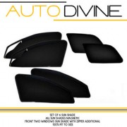 TATA HEXA Car Accessories Side Window Zipper Magnetic Sun Shade Set of 6 Curtains.