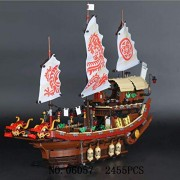 Generic Lepine 16006 16016 Pirates of The Caribbean 16009 Queen Anne's Revenge 16042 22001 06057 Model Movie Series Building Blocks Set 06057