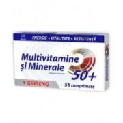 Multivitamine si minerale + ginseng 50+ 56cpr ZDROVIT
