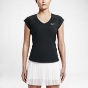 NikeCourt Pure Damen-Tennisoberteil - Schwarz