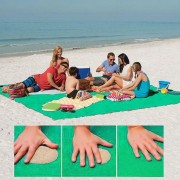 Arena Free Mat Ligero Plegable De Picnic Al Aire Libre Camping Colchon Cojin Beach Mat, Tamaño: 2x2m (verde)
