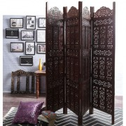 Shilpi Mango Wood Partition Screen Room Divider NSHC0305