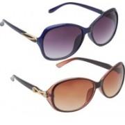 Vast Aviator Sunglasses(Brown, Blue)