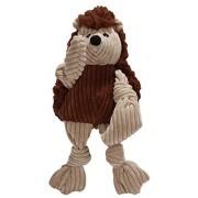 HuggleHounds Premio para Perro Plush Corduroy Durable Woodland Knottie Hedgehog, Small, 1 Piece
