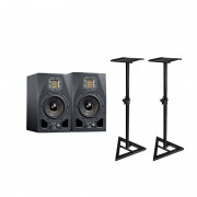 Adam A5X Active Studio Monitor (Pair) Bundle With Included Accessories