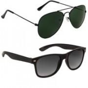 Voyage Aviator Sunglasses(Green, Black, Violet)