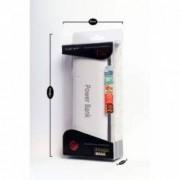 Baterie externa Power Bank 20000 mAh 3 iesiri USB lanterna LED alb