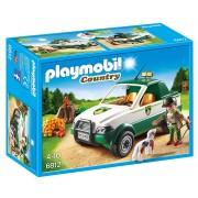 Playmobil Gioco Bambini Guardia Forestale con Pickup Fucile Cane Scoiattoli Playmobil Contry