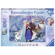 PUZZLE FROZEN, 100 PIESE XXL - ANNA / ELSA / OLAF / KRISTOFF - RAVENSBURGER (RVSPC13610)