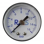 "Manometr reduktora zegar 0-16 bar RQS - 1/8"" - 1/8"""