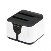HDD Docking Station Dual Bay 2.5 3.5 SATA la USB 3.0 HOPE R functie back-up si clonare
