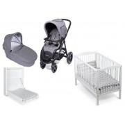 Beemoo Duovagn Airfill, Grey Melange Barnvagn Startpaket Dream