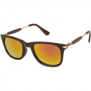 Arzonai Stone Boss Wayfarer Black-Orange UV Protection Sunglasses For Men & Women |MA-038-S16|