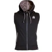 Gorilla Wear Springfield Sleeveless Zipped Hoodie - Zwart - M