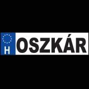 Oszkár - Név rendszámtábla
