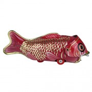 Generic Vintage Iron Sheet Wind-up Big Fish Eating Small Fish Collectable Tin Toy