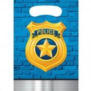 Feestzakjes Politiebadge 8 stuks