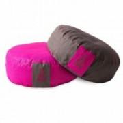 PRANA Pink + Barna 2in1 kifordítható huzat 36x12 cm kerek jóga ülőpárnához