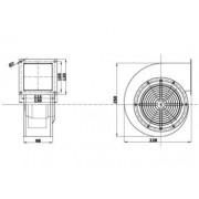 Kazán befuvó ventilátor TECH T-230