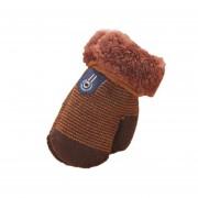 Cómoda de invierno espesar Velvet bebé lactante Chicas Chicos mantenga caliente guantes Cafe