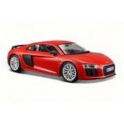 Audi R8 V10 Plus, Red - Maisto 31513 1/24 Scale Diecast Model Toy Car