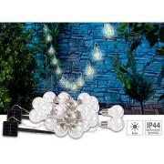 Solar-LED-Lichterkette im Glühbirnen-Look, 12 Birnen, 8,5 m, 2er-Set | Solar Lichterkette