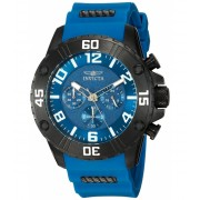 Invicta Watches Invicta Men's 'Pro Diver' Quartz Stainless Steel and Silicone Casual Watch ColorBlue (Model 22701) BlueBlue