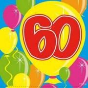 Servetten 60 jaar ballonnen