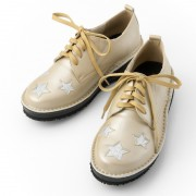 ドルチェ牛革星柄レースアップシューズ【QVC】40代・50代レディースファッション