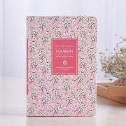 EH Vintage PU Cuero Floral Impreso Oficina Diario Diario Notebook Planner Book - Rosado