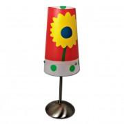 Max FC047-B11 Stolní lampa dětská červená - barevné kytičky