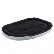 [en.casa]® Pelíšek - pro kočičky a pejsky - s oboustranným polštářem - oxford látka / PP-bavlna - 150 x 120 x 23 cm [XXL] - šedý / černý