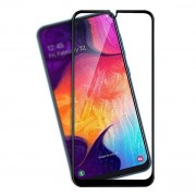 Película de vidro temperado 5D preta para Samsung Galaxy A50