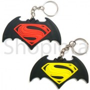 Super the Man Logo Rubber Keychain Top Best Selling Collectible Keyring
