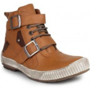 Digni MONK STRAP BOOT Boots For Men(Tan)