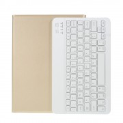 Wireless Bluetooth Keyboard Leather Stand Case for iPad Pro 11-inch (2020)/Pro 11-inch (2018) - Gold