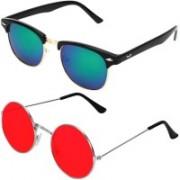 Royalmede Clubmaster Sunglasses(Multicolor, Red)