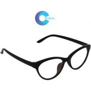 Aligatorr Stylish Cat Eye White Sunglass In Black Frame300