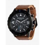 Quiksilver B-52 Chrono Leather - Reloj Analógico para Hombre - Negro - Quiksilver