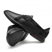 Ronde kop platte hak effen kleur comfortabel en ademend casual schoenen voor mannen (kleur: zwart grootte: 38)