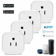 mini toma de corriente inteligente wi-fi con control de voz para amazon alexa? google home / nest IFTTT? tp-link (4 PCS / enchufe de EE.UU.)
