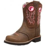 ARIAT Fatbaby Cowgirl Western Boot (Little Kid/Big Kid), Powder Brown/Western Brown, 9.5 M US Toddler