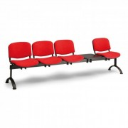B2B Partner ławka do poczekalni tapicerowana viva, 4-siedziska + stolik,
