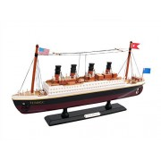 "Handcrafted Model Ships Titanic 14"" Model Cruiseship - Already Built Not A Kit - Wooden Ship Model Cruise Ship Replica Scale"