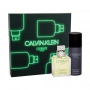Calvin Klein Eternity For Men подаръчен комплект EDT 100 ml + дезодорант 150 ml за мъже