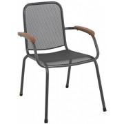 Baštenska metalna stolica Lopo tamno siva