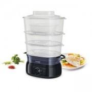 Уред за готвене на пара Philips Daily Collection HD9126/00 9 л, 900 W Ръчен таймер, ароматизатор, купа за супа/ориз, пластмаса, черен